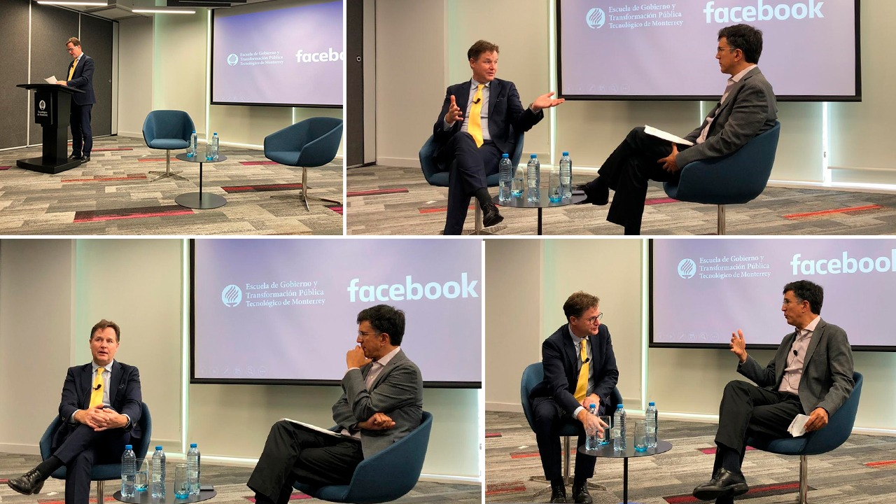 Nick Clegg de Facebook y los nuevos retos de Internet.
