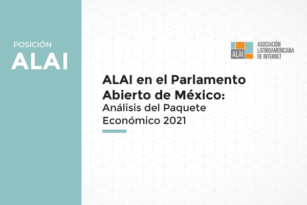 México: Nuestra participación en el Parlamento Abierto para el análisis del Paquete Económico 2021